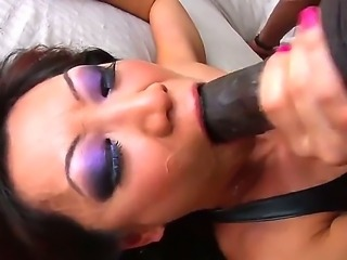 Cute asian hottie Tia Ling enjoys in doing a hot deep throat session with her...
