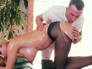 Sexy hottie Blake Rose enjoys true pleasure along hunk ready to fuck her...