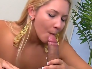 Exciting blonde girlie Arabella Noelle is going to take big penis of Johnny...