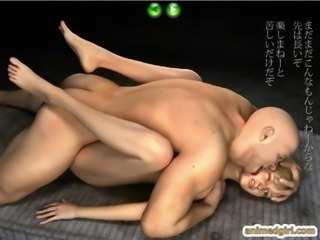 3D hentai hot threesome fucking and swallowing cum