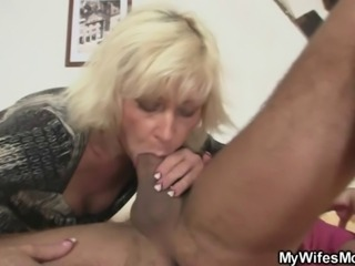 Blonde mother in law seduces me into sex