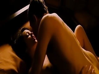 Autumn Reeser naked on top of a guy as they have sex in