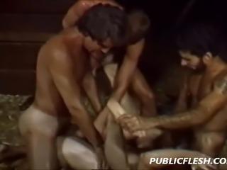 Rough Retro Homosexual Gang Bang