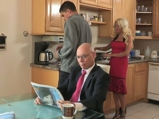 Cheating hot stepmom bangs for breakfast