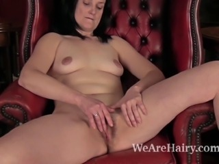 Hairy woman Emily Marshall is a mature hairy woman. She loves her hairy pussy...