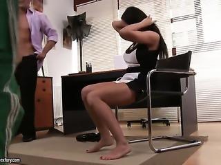Brunette Rio Lee makes her sex dreams a come true in interracial sex action