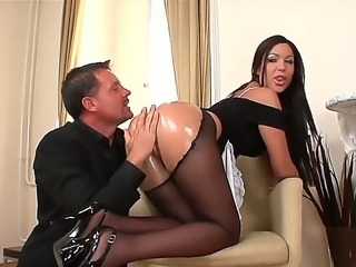 Hardcore and hot action with a nasty bitch Angelica Heart and her fucker...