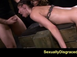 Master turned Fiona River and lubed up her asshole and plunged his dick in....