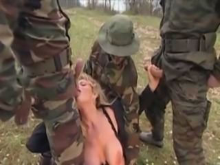 Girl gangbanged in grass by military men free