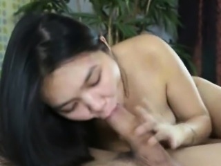 Asian with small tits gets fucked by a big cock