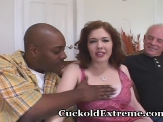 Fiery redheaded wife is looking for a good fuck...with the encouragement of...