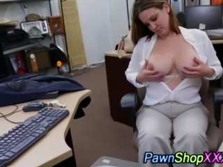 Real thick amateur sucks cock in back of pawn shop