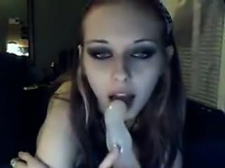Petite Goth Teen Masturbating