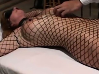 Roped mature got punishment