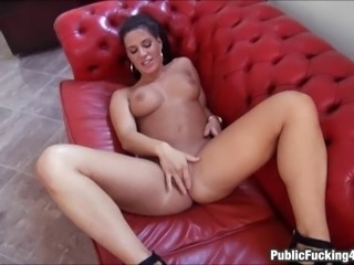 Sexy receptionist Athina Love got smooth tan skin natural tits and a perfect...