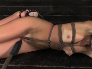 Overarmtied up ballgagged milf tormented