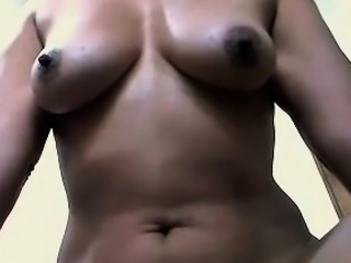 mature Colombian mum Maria in home solo