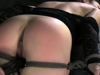 BDSM sub Veruca James clit stimulated