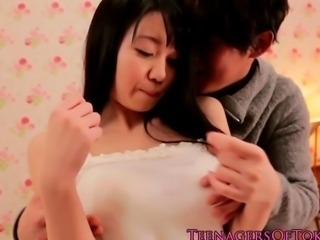 Squirting japanese teen with nice big tits