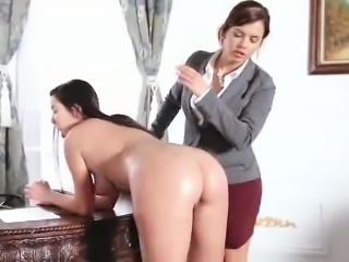 Sexy lezdom in the office