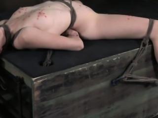 Bondage LEZDOM rope submission for brunette sub