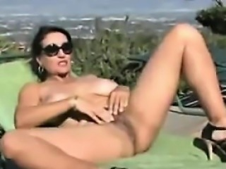 Persian Mother Fingering Herself Outside