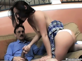 Kristina Rose takes heavy money shot on her nice face