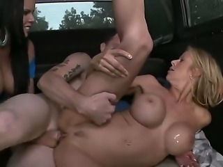 Passionate big racked pornstars Diamond Kitty and Alexis Fawx show their love...