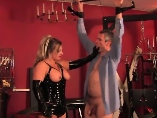 Dominating mistress whipping and humiliating