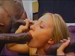 Blonde Anal Gang Banged by Mandingo & his big black cock friends! free