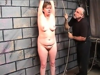 Saggy old bitch gets a good whipping of  - Meet her on MILF-