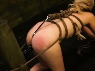 FetishNetwork Lilly Ligotage rope tied and fucked hard