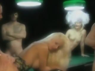 Naughty Blonde hotie Mya banged on the pool table