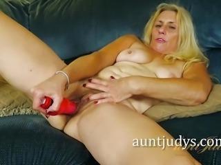 """Blonde Cristine Ruby masturbating"""