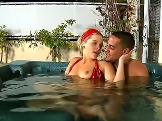 Alexis Texas is a hot blonde that is relaxing with a guy in the pool. The...