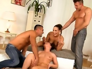 Renato, Choky Ice, Mea Melone and Wendy Moon are filmed doing an orgy. Watch...