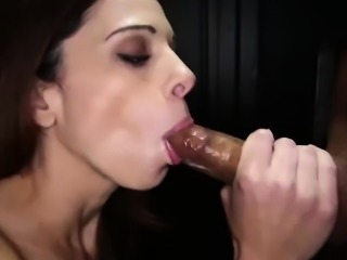 Gloryhole Secrets 32 loads of cum in her mouth part 1