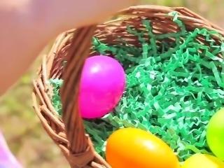 ExxxtraSmall - Teen Hunts Easter Eggs to Spread Her Legs