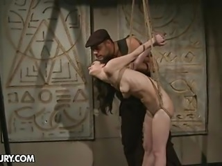 """Aleksandra in the dark dungeon tied up and fucked"""