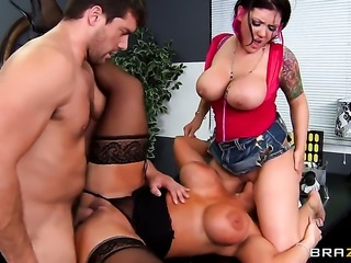 Ramon loves always wet warm love hole of Claire Dames  Alura Jenson with phat...