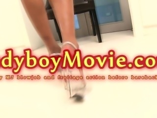 Ladyboy MJ Frottage And Blowjob