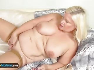 """""""Chubby granny masturbating"""""""