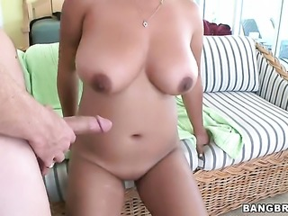 Reina with big hooters loves her sex partner in this interracial hardcore scene