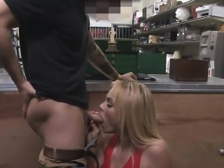 Skyla Novea Sucking Dick Behind Counter In Pawn Shop