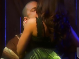 Kirsten Price gets her mouth fucked silly by fuck hungry guy