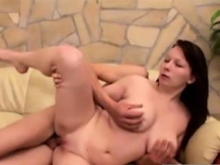 Wheelchair man fucks a cockstarving chubby beauty