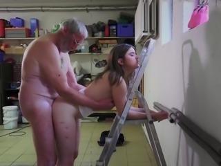 Old Grandpa Fucks Gina Gerson And Her Girlfriend In Hardcore