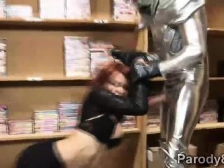 Slutty Red Widow defeated in assvengers porn parody