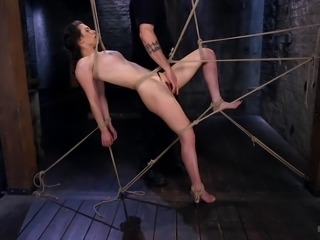 Looks like Casey is tangled in the ropes, but it's only illusion. The fact...