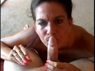 Hot Busty Mature Cougar Smoking BJ-POV